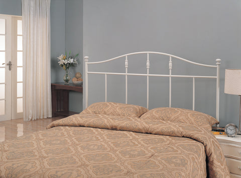 Traditional Cottage White Metal Twin Headboard
