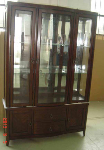 Louanna Transitional Espresso China Cabinet