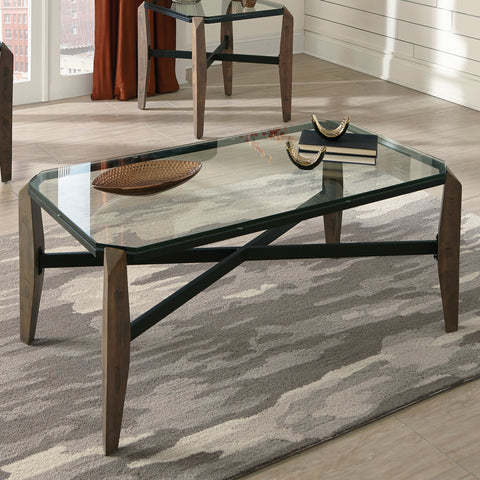 Accents Glass Top Coffee Table
