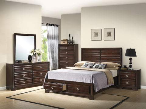 Bryce Transitional Cappuccino California King Four-Piece Set