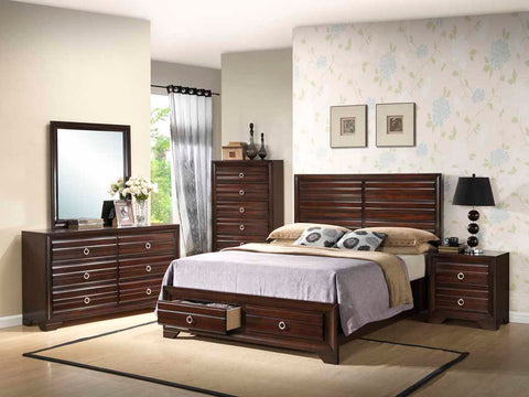 Bryce Transitional Cappuccino California King Bed