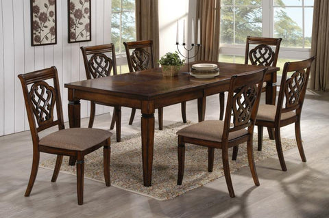 Hayden Transitional Antique Brown Dining Table