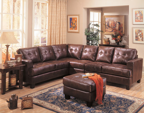 Samuel Transitional Dark Brown Sectional