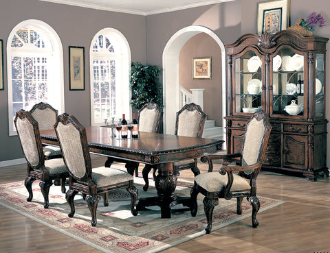 Saint Charles Traditional Brown Five-Piece Dining Set