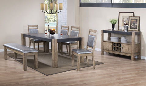 Ludolf Industrial Five-Piece Dining Set