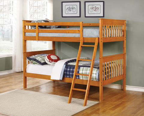 Parker Honey Twin-over-Twin Bunk Bed