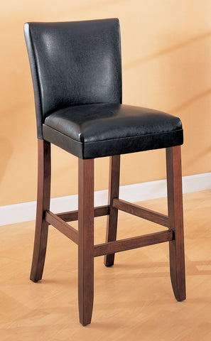 Telegraph Faux Leather Black Counter-Height  Chair