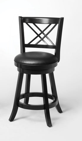 Black Swivel Counter-Height  Chair