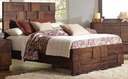 Gallagher Rustic Golden Brown King Bed