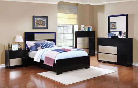 Havering Contemporary Black Twin Four-Piece Set