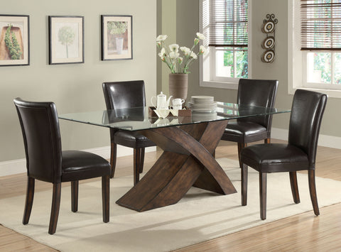 Nessa Casual Brown Dining Table