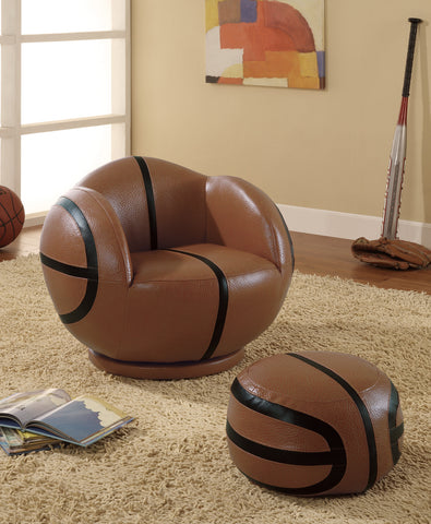 Basketball Chair with Ottoman