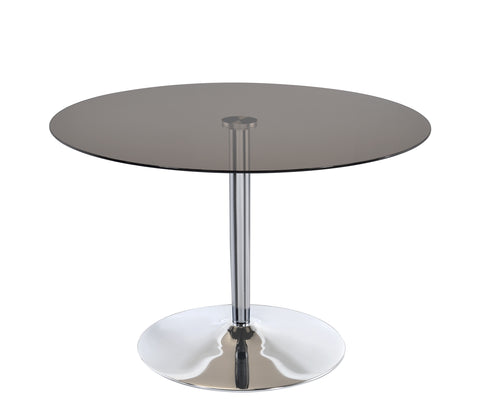 Clemente Contemporary Pedestal Round Dining Table