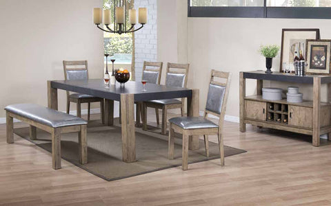 Ludolf Rustic Dark Concrete Dining Table