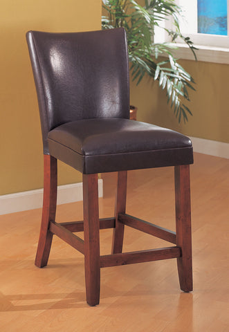 Casual Brown Leatherette Counter-Height  Chair