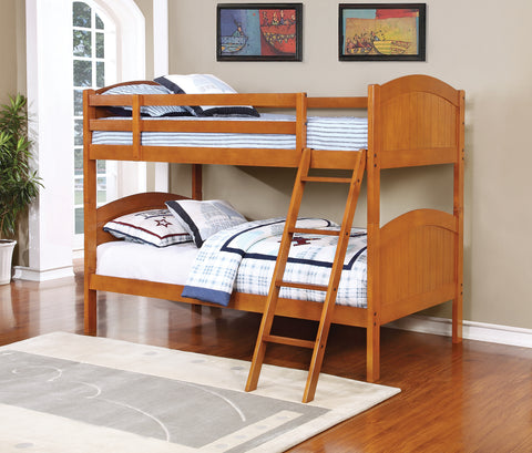 Parker Light Honey Twin-over-Twin Bunk Bed