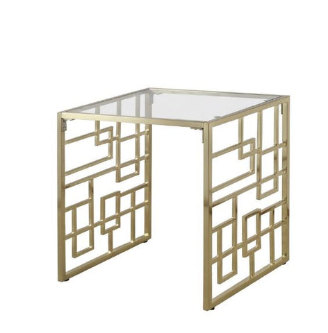 Accents Brass Geometric End Table