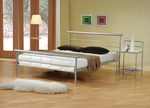 Cobalt Transitional Silver Queen Bed