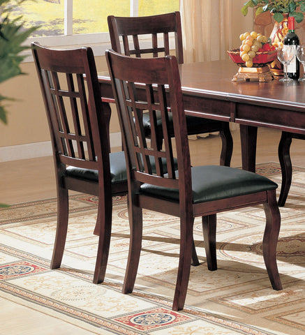 Newhouse Transitional Black and Cherry Side Chair