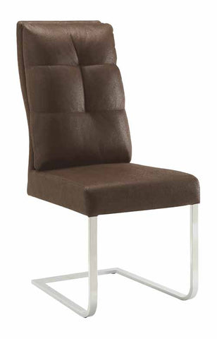 Nessa Contemporary Brown Upholstered Khaki Dining Chair