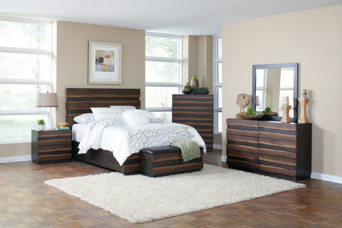 Octavia Bedroom Rustic Coffee and Sappy Walnut Queen Bed