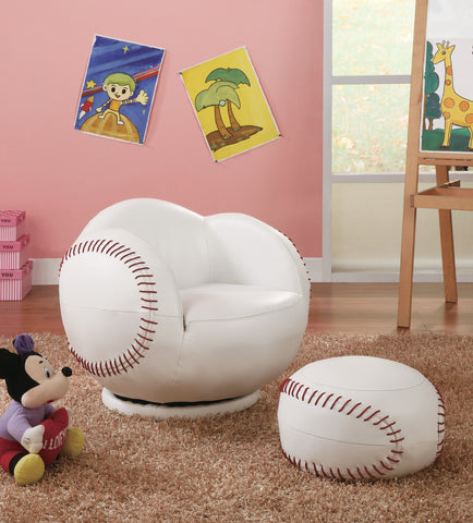 Baseball Chair with Ottoman