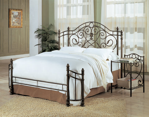 Violet Traditional Antique Bronze Metal Queen Bed