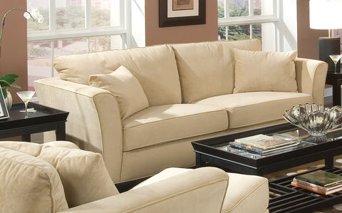 Park Place Transitional Cream Sofa