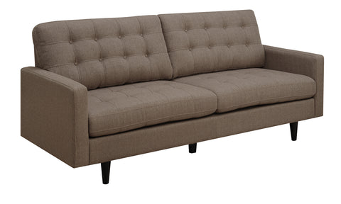 Kesson Mid-Century Modern Brown Sofa