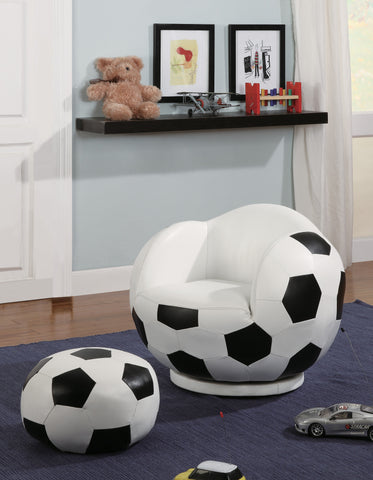 Soccer Ball Chair with Ottoman