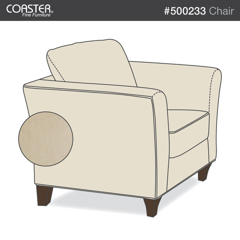 Park Place Transitional Cream Chair