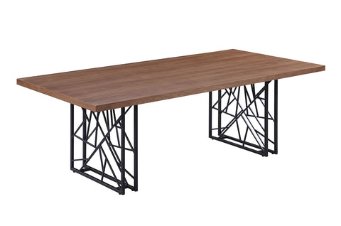 Chancelor Industrial Walnut Dining Table