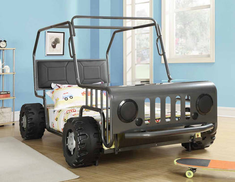 Casey Black Race Car Twin Bed