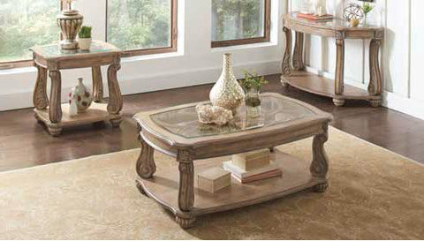 Ilana Traditional Antique Linen Side Table