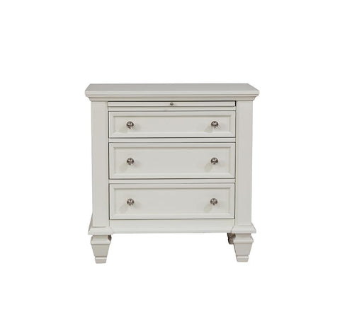 Sandy Beach Three-Drawer Nightstand With Tray