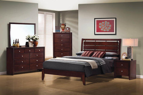 Serenity Eastern King Bed Rich Merlot