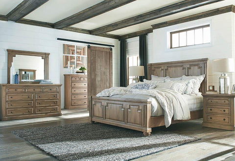 Florence Traditional Rustic Smoke California King Bed