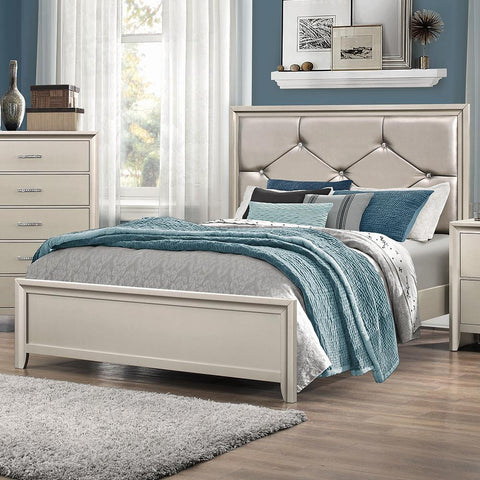 Lana Traditional Silver Eastern King Bed