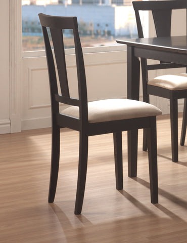 Transitional Black and Beige Five-Piece Dining Set
