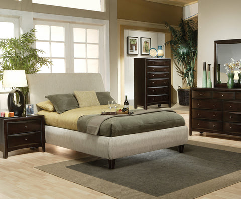 Phoenix California King Contemporary Upholstered Bed