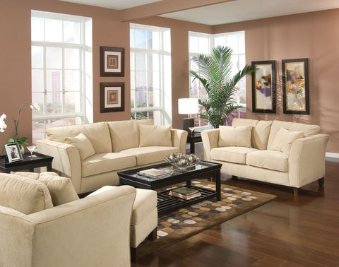 Park Place Transitional Cream Loveseat
