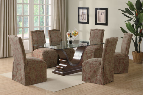 Slauson Traditional Brown Upholstered Dining Chair