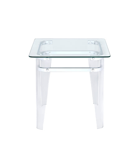 Amaranth Glass Top End Table