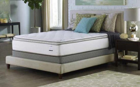 "13.5"" Queen Size Mattress -Pillow Top- Foam Encased- 460 Verticoil"