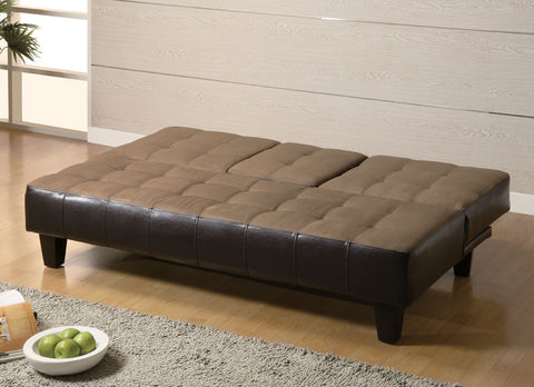 Transitional Tan and Cappuccino Sofa Bed