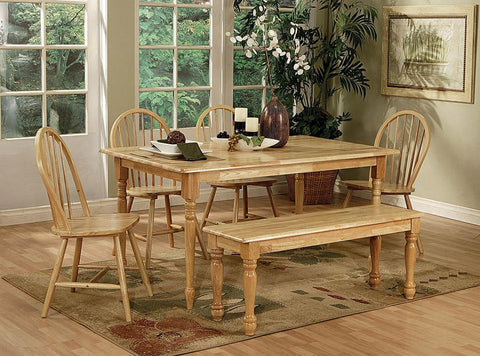 Benson Country Natural Dining Room Bench