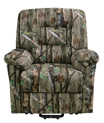 Casual Light Camouflage Power Lift Recliner