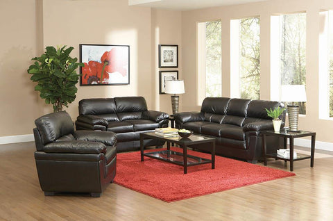 Fenmore Transitional Black Loveseat