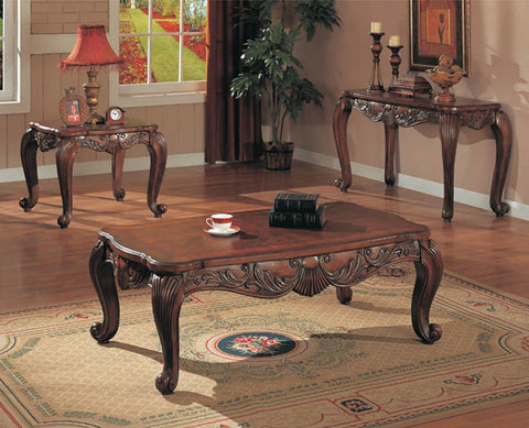 Victoria Traditional Brown End Table