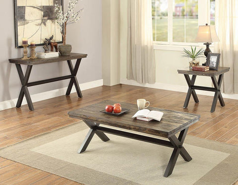 Romilly Rustic Dark Brown Sofa Table